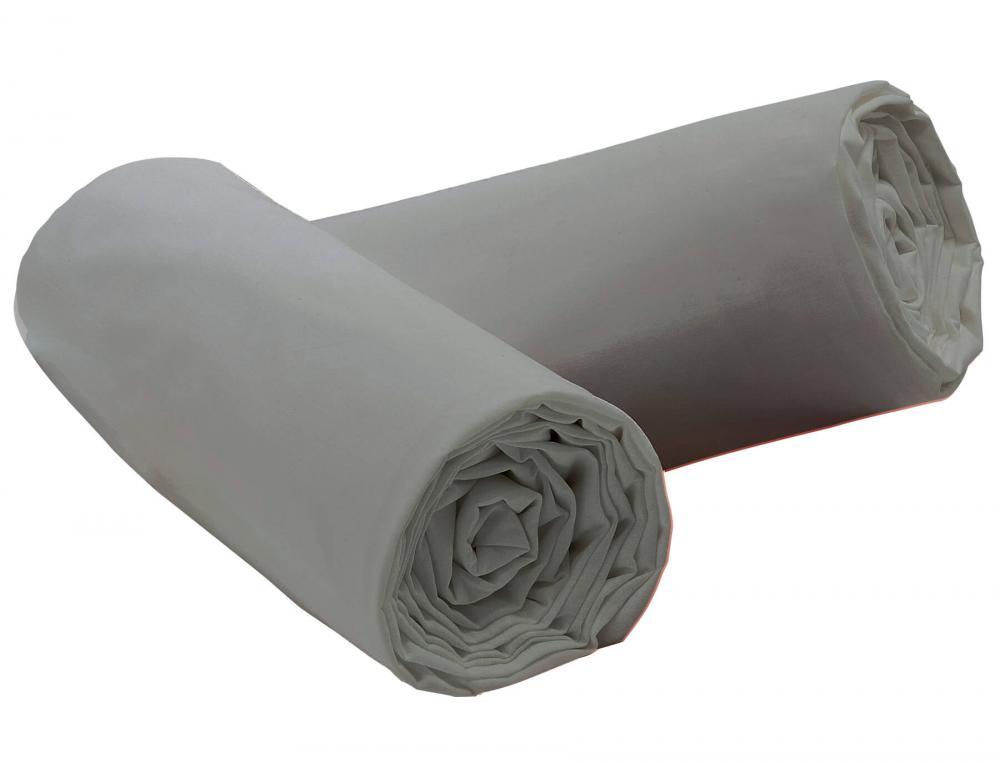 1 drap-housse gris nuage Coton fin acheté = 1 offert