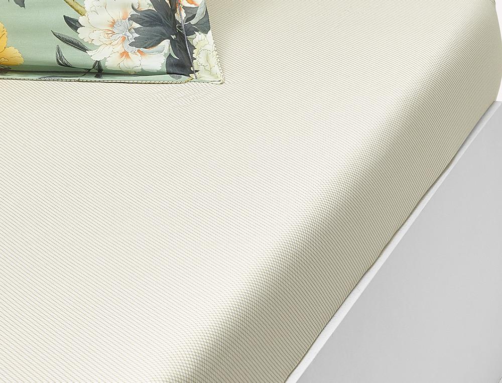 Drap housse satin imprimé petits motifss géométrique bonnet 35 cm Pivoine Sakura