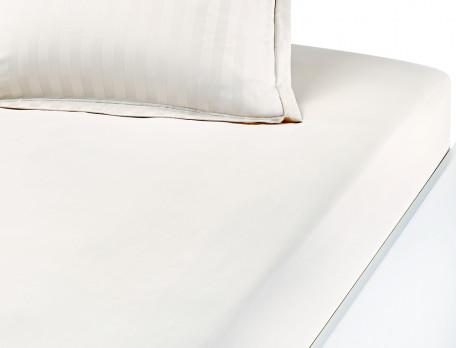 Drap-housse satin 100% coton peigné uni Prélude