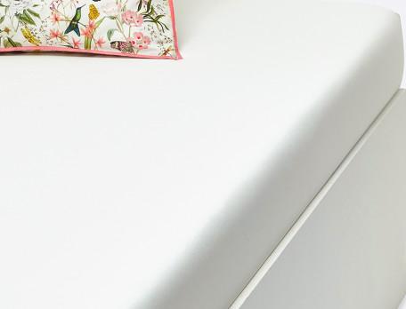 Drap housse percale ivoire bonnet 35 cm Souffle d'été