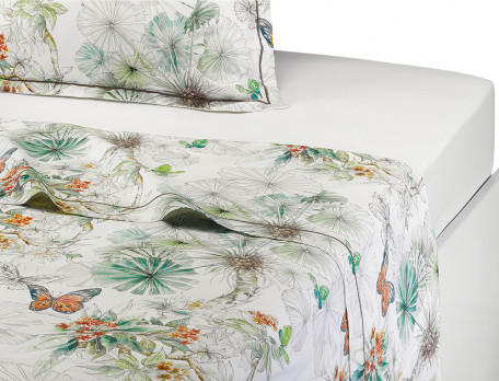 Drap percale imprimé L'Ile des papillons