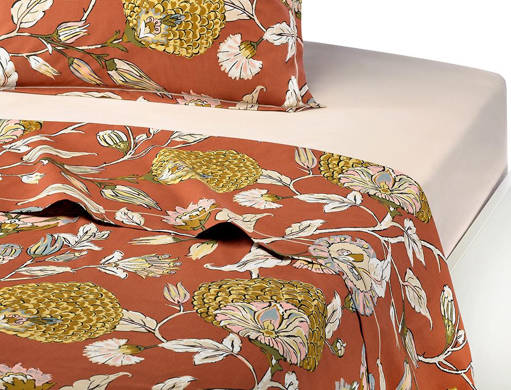 Drap percale coton imprimé floral Parade en fleurs