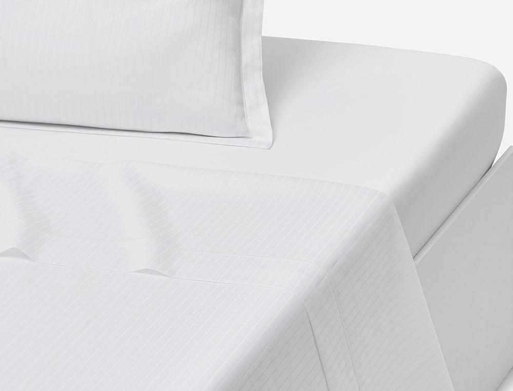 Drap satin de coton jacquard rayé couleur unie bourdon Récital