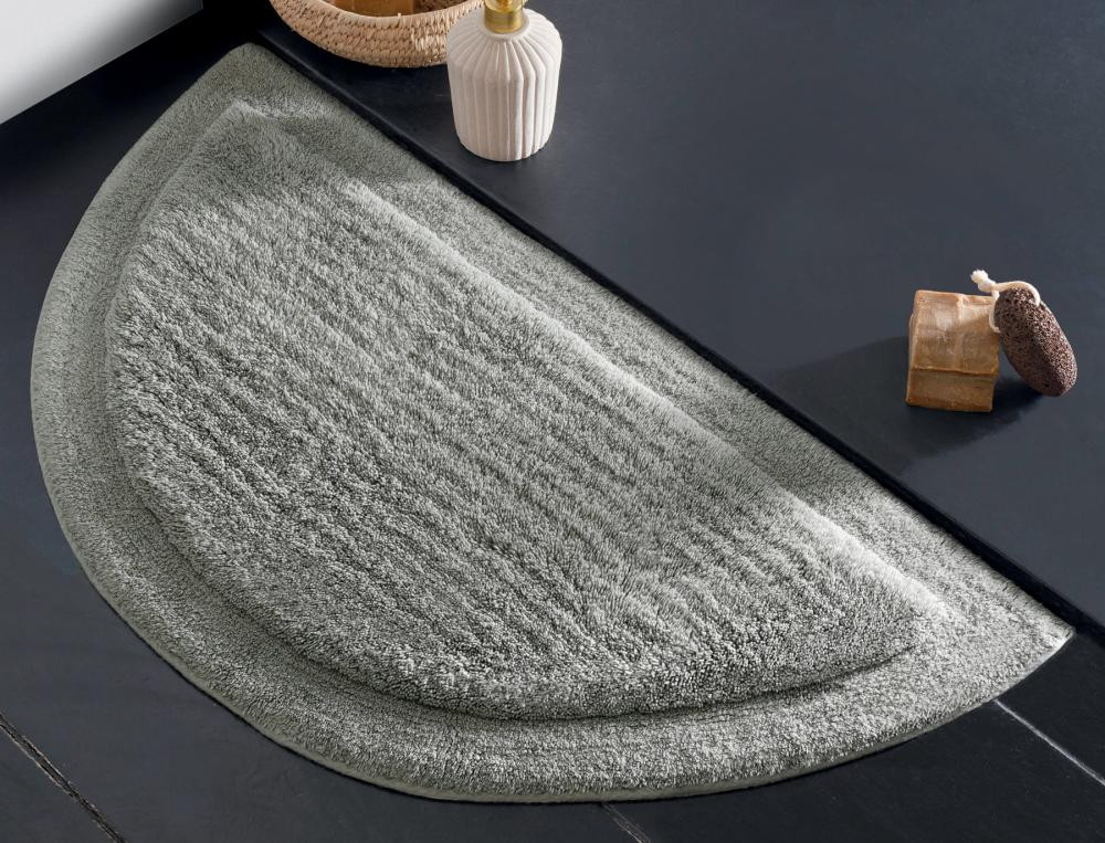Duschvorleger halbrund Bath Baumwolle Linvosges
