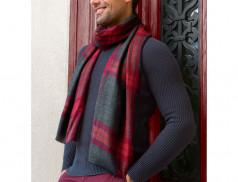 Écharpe homme laine et soie Soir de fête