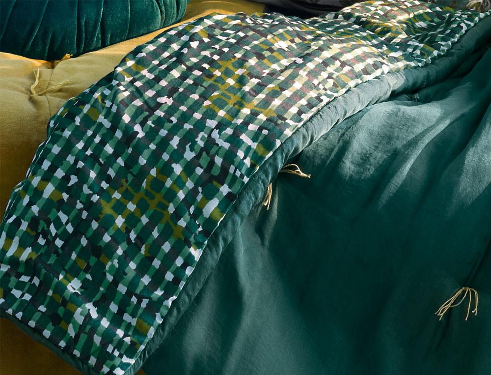 Édredon velours et soie/coton Forêt boréale