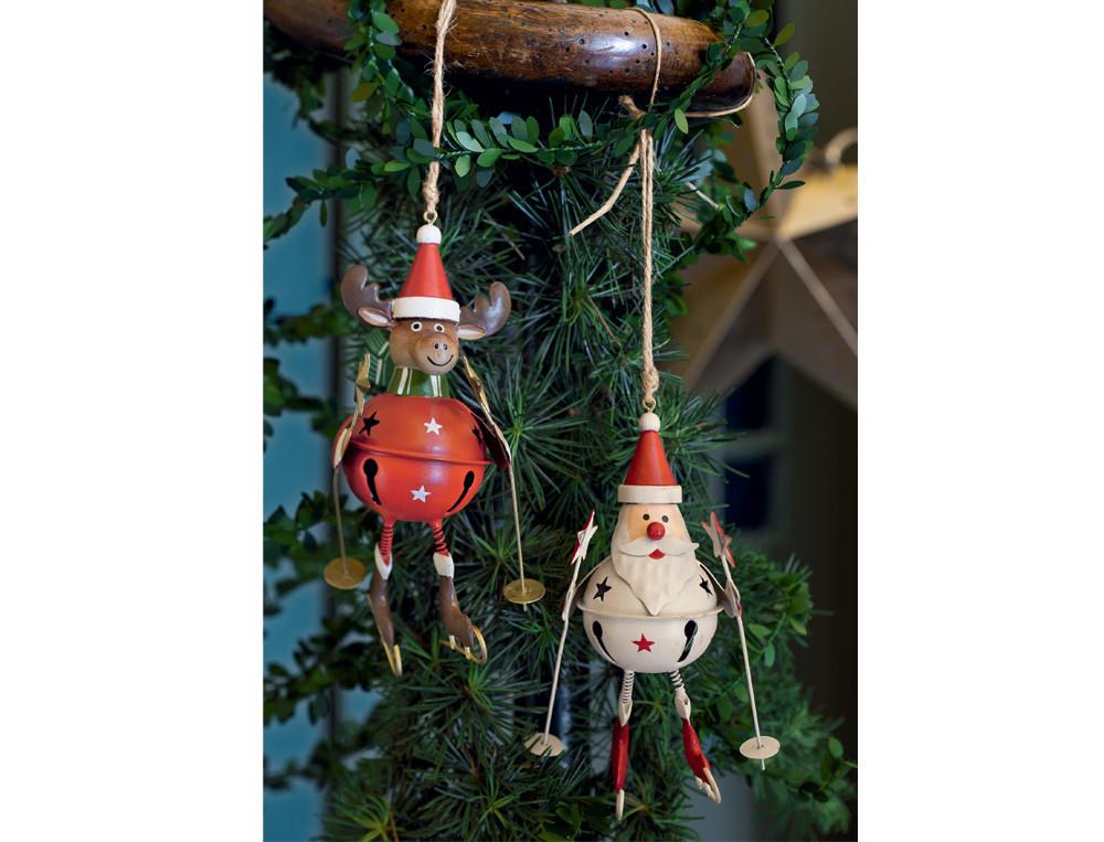 Lot 2 figurines 1 renne et 1 Père Noël Esprit de Noël