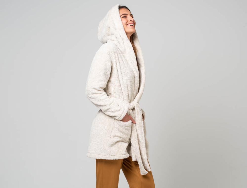 Fleece-Morgenmantel für Sie Träumerin Linvosges