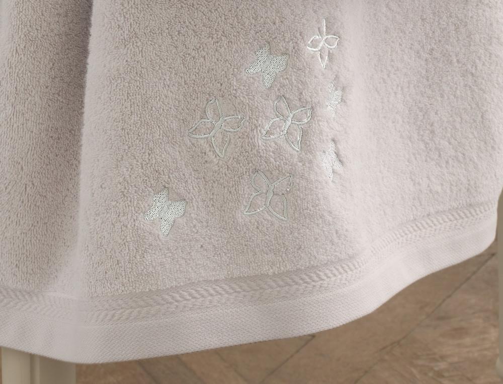 Frottee-Set Schmetterlings-Stickerei Haute Couture