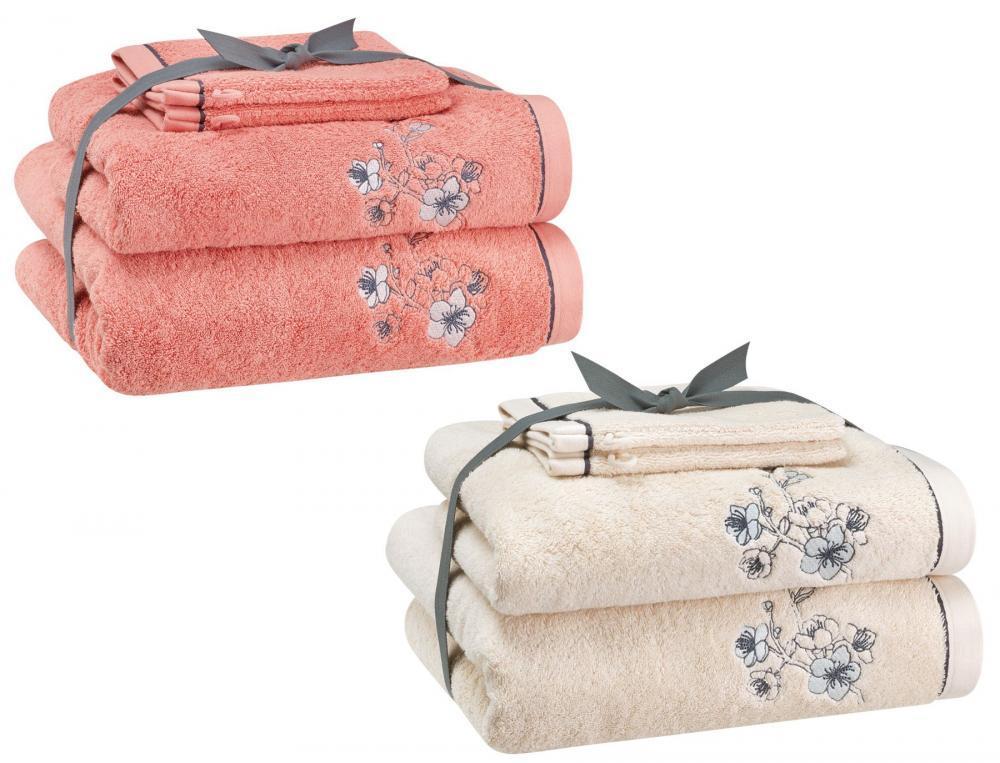 Frottee-Set Japanische Blüte Linvosges Baumwolle