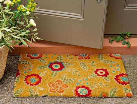 Fußmatte Blumenbeet Kokosnussfasern Linvosges