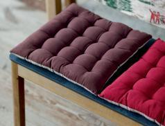 2 coussins de chaise bicolore Cimes enneigées