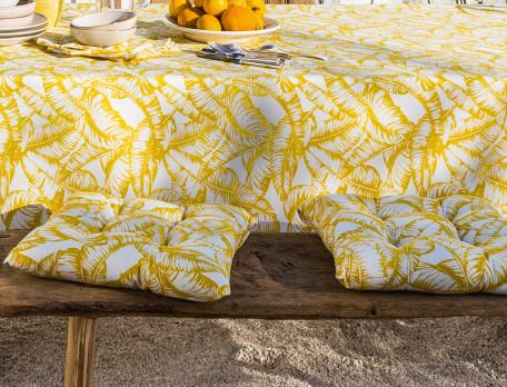 2 galettes de chaise imprimées traitées anti-UV Soleil d'été