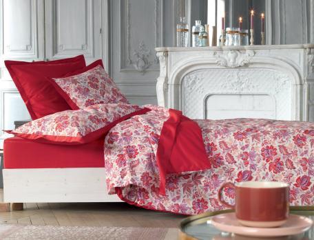 Linge de lit imprimé floral Garance