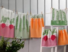 Geschirrtuch-Set Gemüsebeet Baumwolle Linvosges