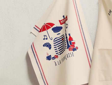 Geschirrtücher französische Motive Gourmet-Küche