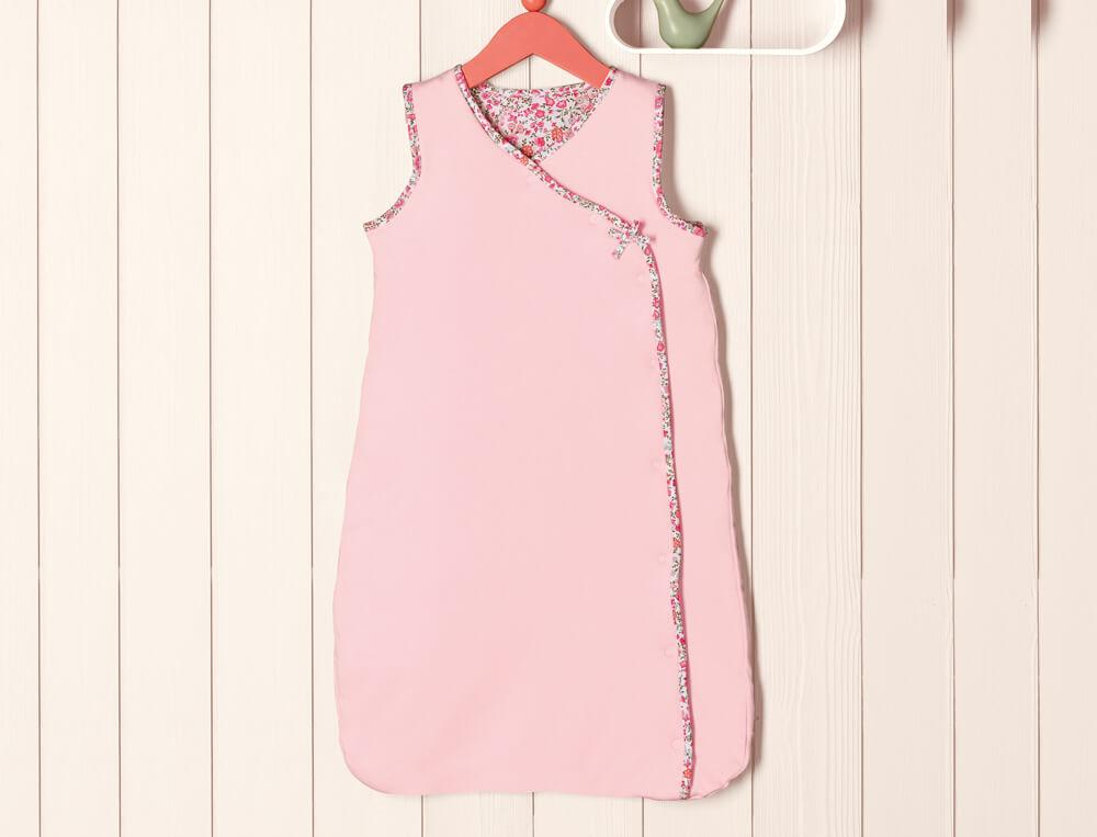 Gigoteuse jersey rose Ronde des fleurs