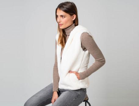 Gilet à capuche polyester doublure coton Instant cosy
