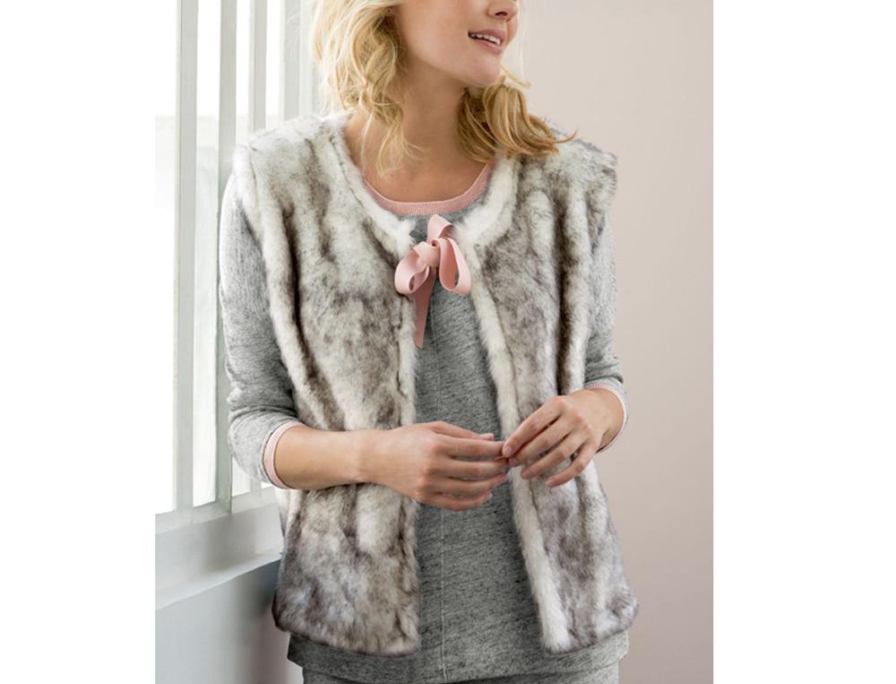Gilet et veste Rose 100% coton d'argent
