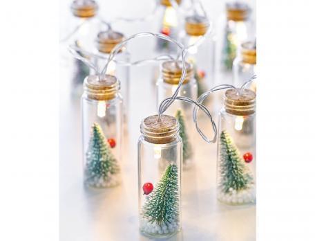 Guirlande lumineuse 10 flacons en verre Sous la neige