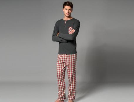 Herren Pyjama Tandem Baumwolle Linvosges