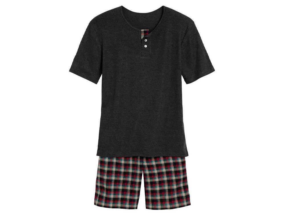 Herren Schlafanzug Jersey Flanell kurz
