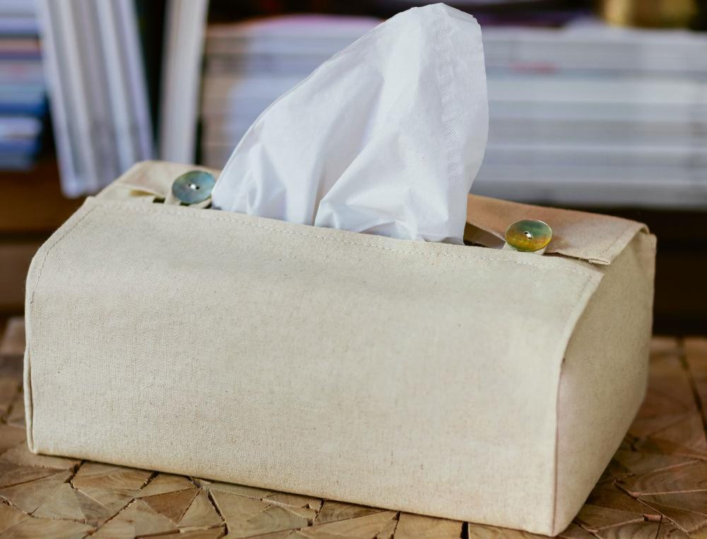 Housse boîte à mouchoirs en lin