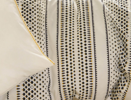 Drap housse percale uni blanc naturel bonnet 35 cm Constantin