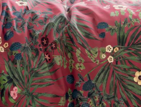 Housse de couette percale coton imprimé végétal Éloge floral