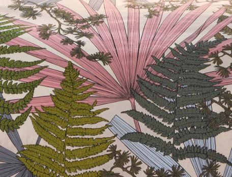 Housse de couette percale imprimée Les Papyrus