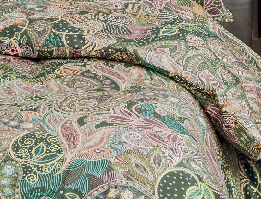 Housse de couette percale coton imprimé cachemire Maharani