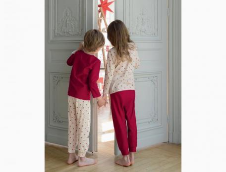 Jungenpyjama Sternenmärchen Linvosges Baumwolle