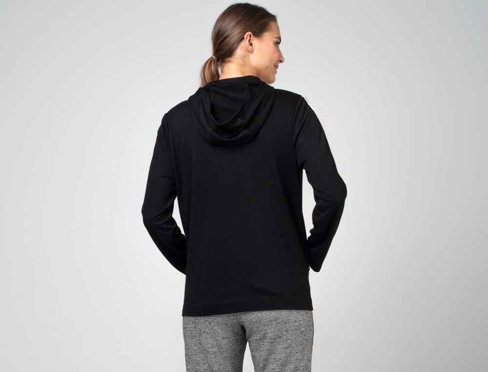 Kapuzenjacke Fitness aus schwarzem Molton