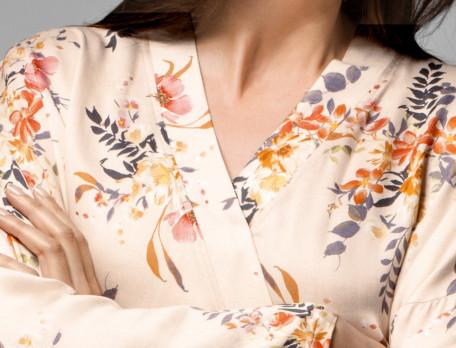 Kimono Blumentraum Satin Linvosges
