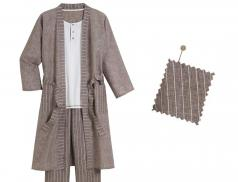 Kimono tissé teint Gabin