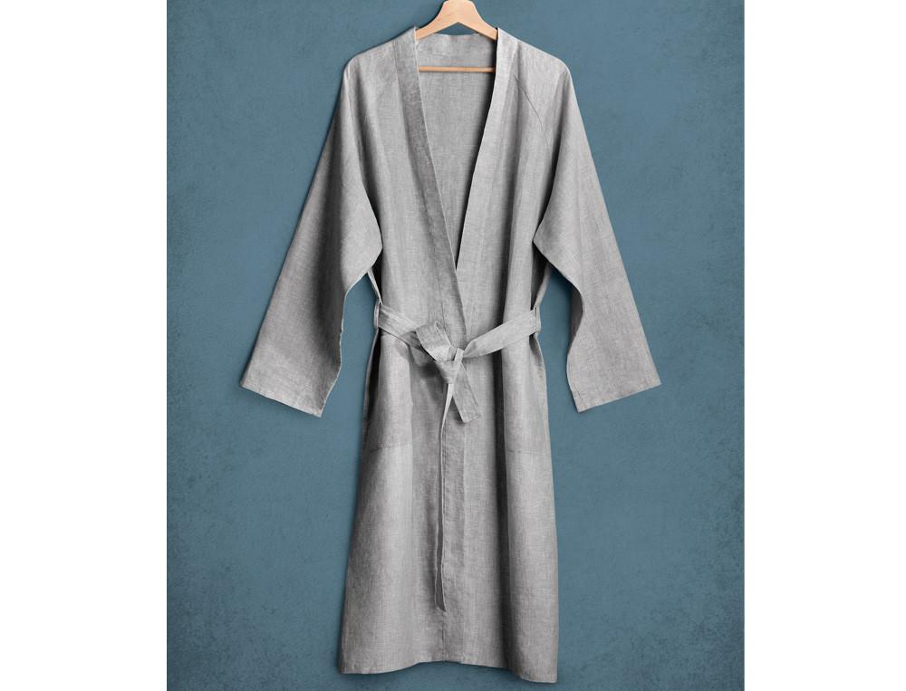 Kimono homme 100% lin chiné En Camargue