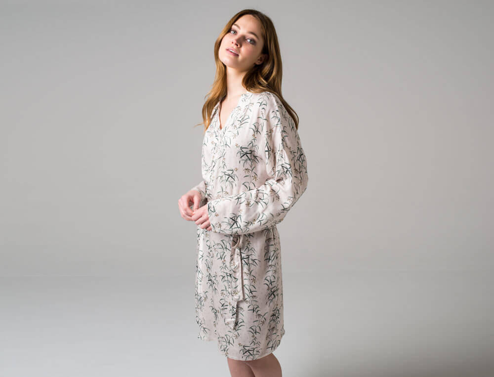 Kimono imprimé effet satin Précieuse