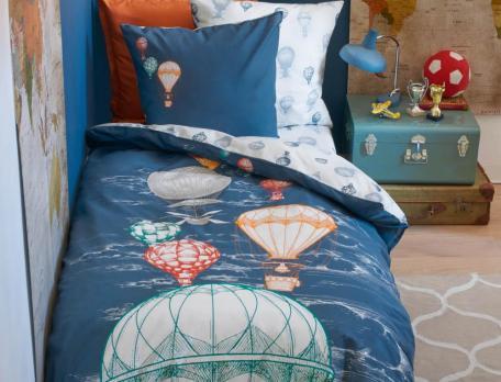 Kinder Bettwäsche Ballonfahrt Baumwolle Linvosges