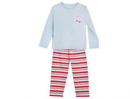 Kinder Pyjama Kleiner Kapitän Baumwolle Linvosges