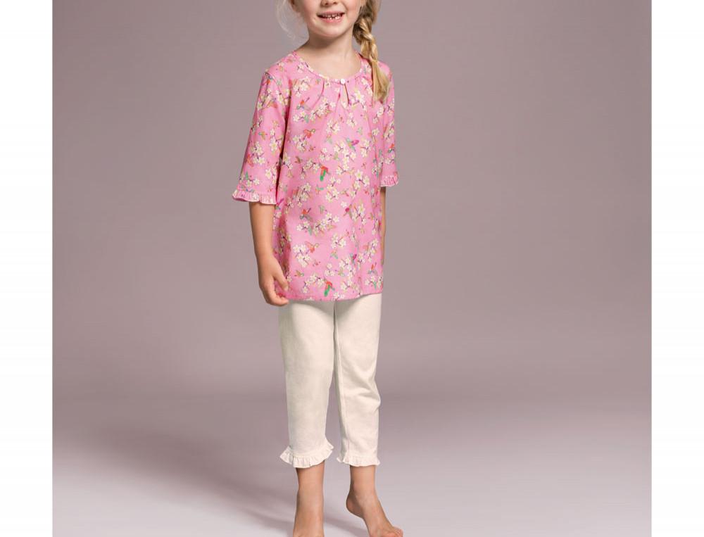 Kinder Pyjama Kleiner Kolibri Baumwolle Linvosges