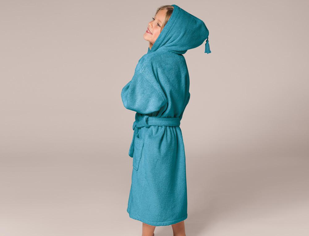 Kinderbademantel einfarbig Entspannungsoase Baumwolle Linvosges