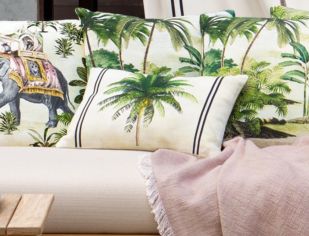 Kissen Kenia Palmenmotiv Linvosges