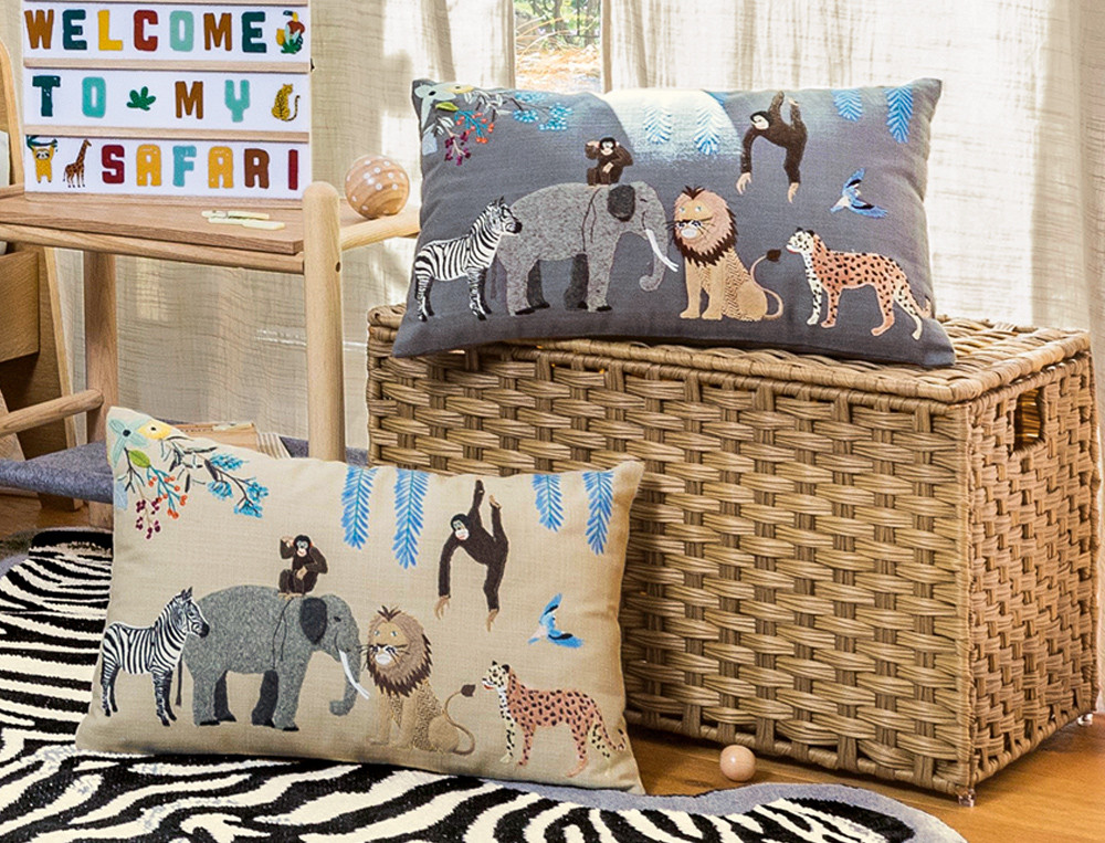 Kissen Kleine Safari Linvosges