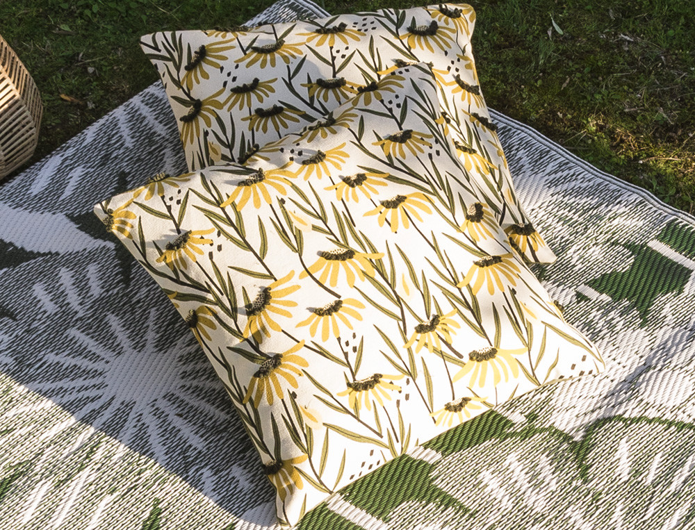 Kissen - bedruckt und bestickt Sonnenanbeter