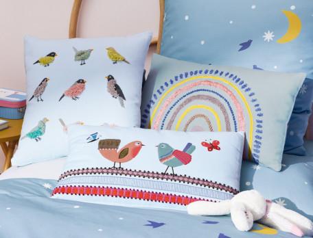 Dekokissen Vögel Wunderwelt