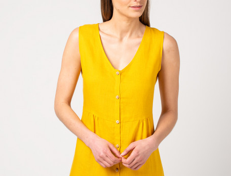 Kleid gelb kurz Strandtag