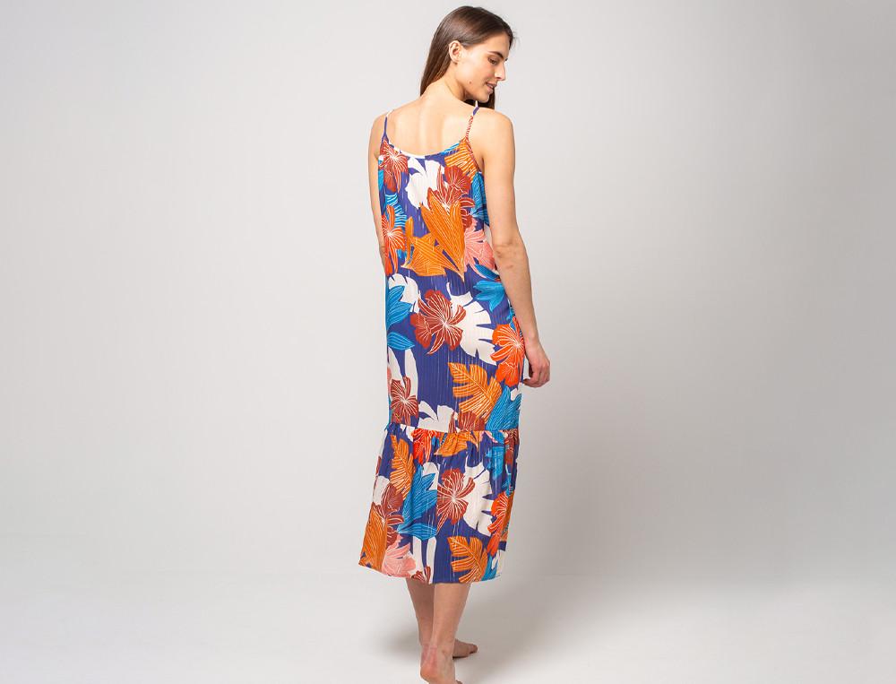 Kleid lang Viskose Strandtag
