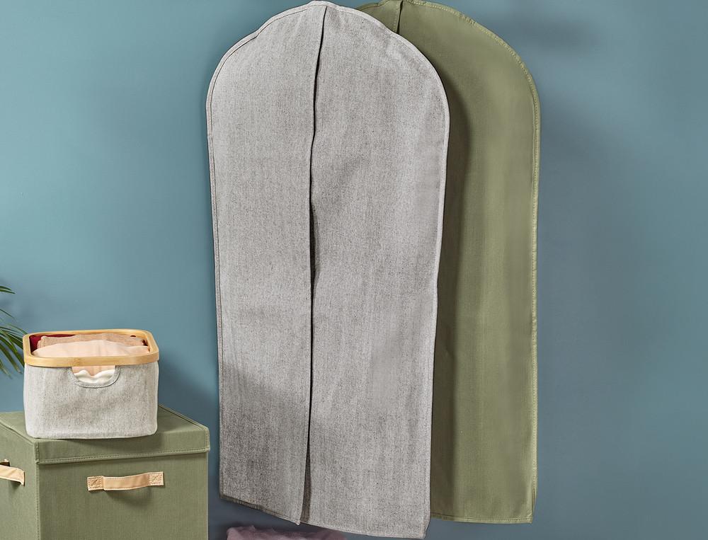 Kleidersack mit Klettverschluss aus Polyester und Baumwolle