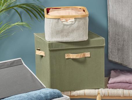 Korb Garderobe aus Polyester und Baumwolle