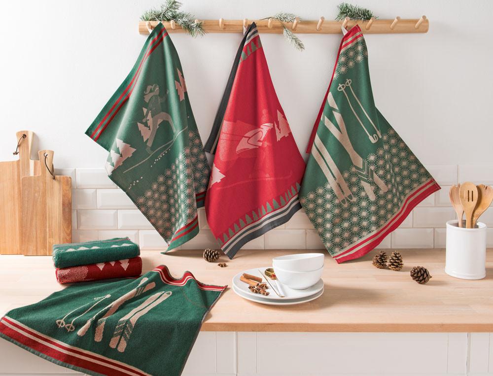 Geschirr- oder Küchenhandtücher Weihnachtsbrunch